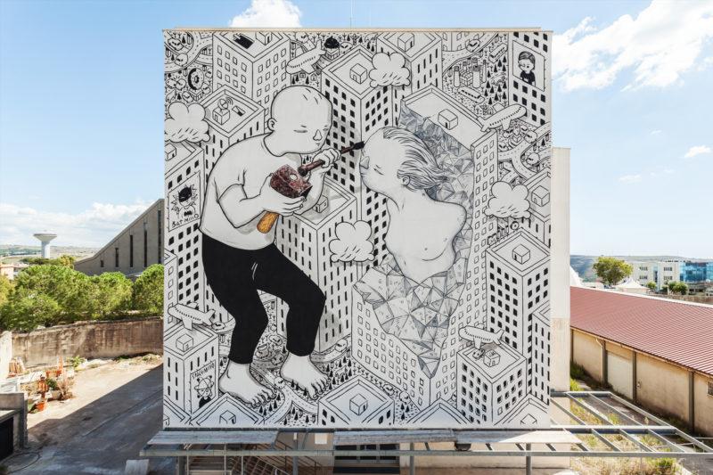 Работа уличного художника Milo