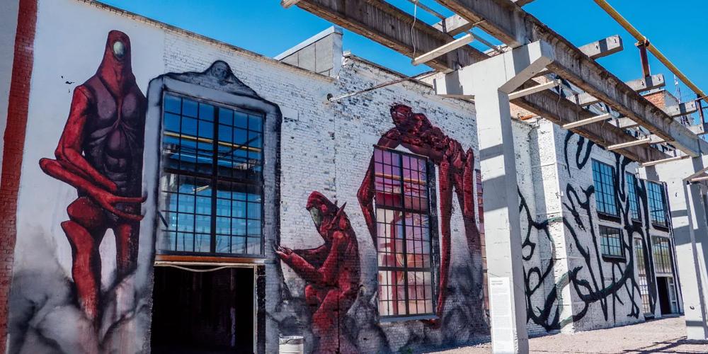 Выставка в музее стрит-арта Сказочная страна Стритартия
