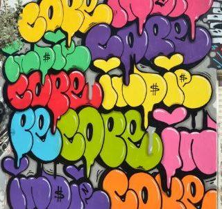 Граффити в стиле бабл