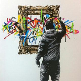 Создание граффити при помощи трафаретной техники